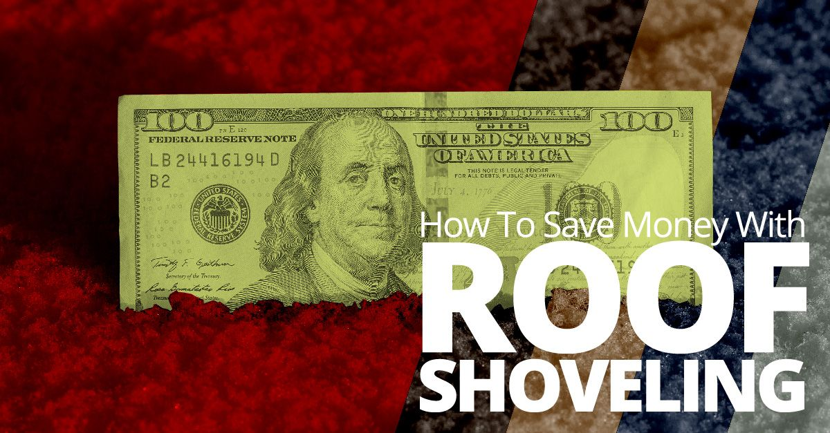 How to save money with roof shoveling
